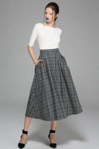 Elegant Midi Skirt Winter Ideas03