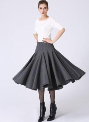 Elegant Midi Skirt Winter Ideas07