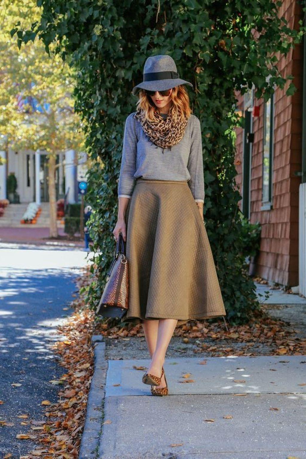 Elegant Midi Skirt Winter Ideas28