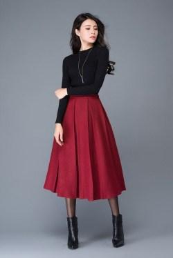Elegant Midi Skirt Winter Ideas43