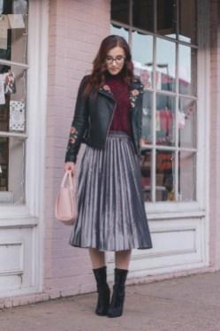 Elegant Midi Skirt Winter Ideas44