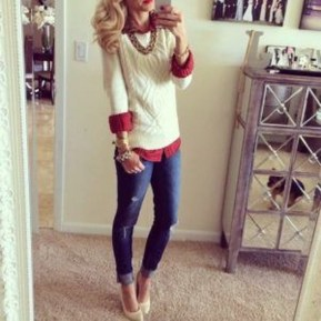Incredible Holiday Style Christmas Outfit Ideas21