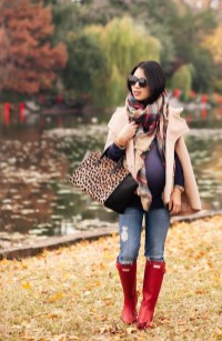 Lovely Maternity Winter Outfits Ideas04