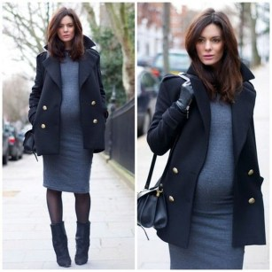 Lovely Maternity Winter Outfits Ideas05