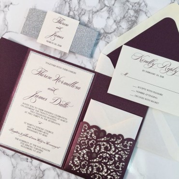 Popular Winter Wonderland Wedding Invitations Ideas03