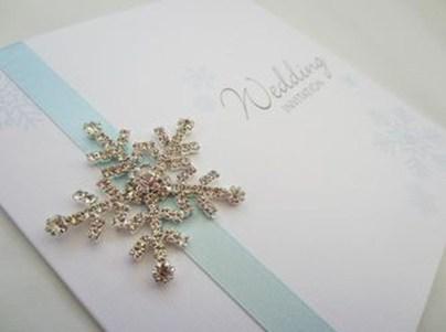 Popular Winter Wonderland Wedding Invitations Ideas13