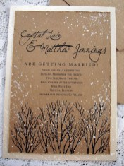 Popular Winter Wonderland Wedding Invitations Ideas18