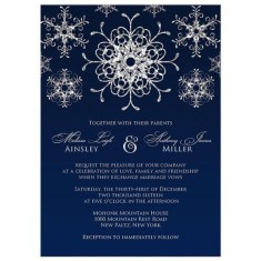 Popular Winter Wonderland Wedding Invitations Ideas21