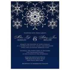 Popular Winter Wonderland Wedding Invitations Ideas21