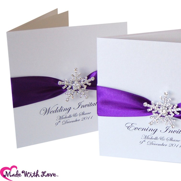 Popular Winter Wonderland Wedding Invitations Ideas26