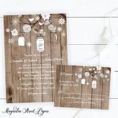 Romantic Rustic Winter Wedding Invitations Ideas05