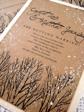Romantic Rustic Winter Wedding Invitations Ideas07