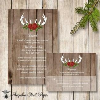 Romantic Rustic Winter Wedding Invitations Ideas12