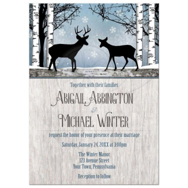 Romantic Rustic Winter Wedding Invitations Ideas15