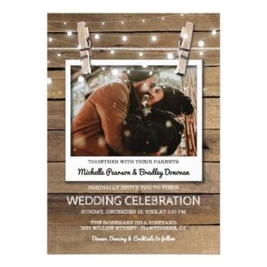 Romantic Rustic Winter Wedding Invitations Ideas16