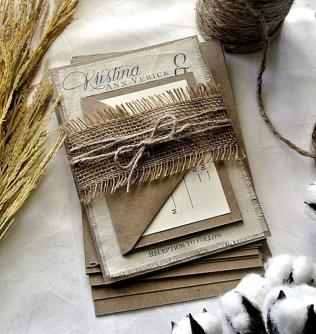 Romantic Rustic Winter Wedding Invitations Ideas27