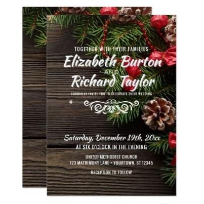 Romantic Rustic Winter Wedding Invitations Ideas29