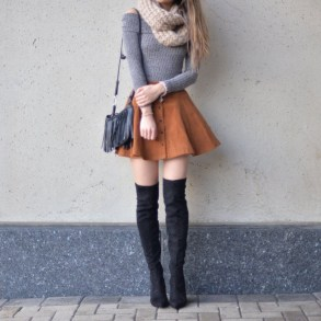Affordable Winter Skirts Ideas With Tights05