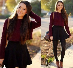 Affordable Winter Skirts Ideas With Tights11