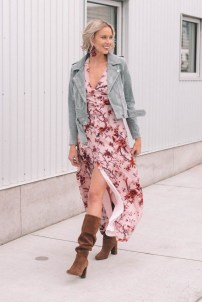 Amazing Winter Dresses Ideas With Boots18