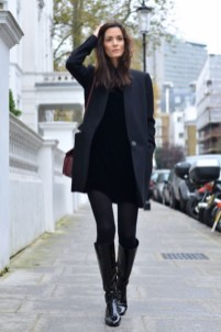 Amazing Winter Dresses Ideas With Boots19