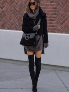 Amazing Winter Dresses Ideas With Boots20