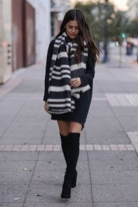 Amazing Winter Dresses Ideas With Boots32
