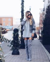 Amazing Winter Dresses Ideas With Boots36