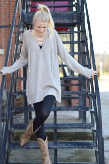 Awesome Winter Dress Outfits Ideas With Boots05