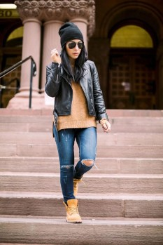 Awesome Winter Dress Outfits Ideas With Boots12