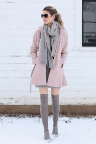 Awesome Winter Dress Outfits Ideas With Boots21