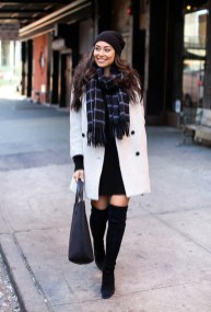 Awesome Winter Dress Outfits Ideas With Boots32