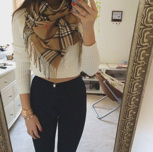 Classy Winter Outfits Ideas For School43