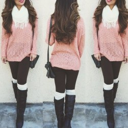 Incredible Winter Outfits Ideas With Leg Warmers01