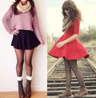 Incredible Winter Outfits Ideas With Leg Warmers35