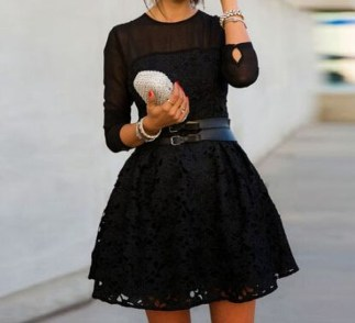 Perfect Black Mini Little Dress Ideas For Valentines Day31