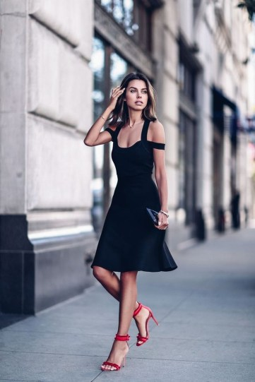 Perfect Black Mini Little Dress Ideas For Valentines Day46