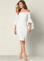 Perfect Winter White Dresses Ideas With Sleeves01