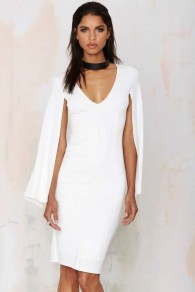 Perfect Winter White Dresses Ideas With Sleeves04