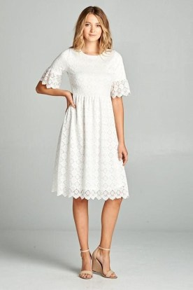 Perfect Winter White Dresses Ideas With Sleeves08