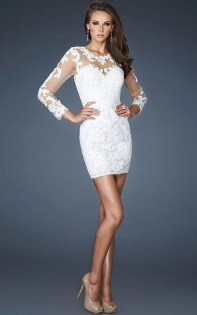 Perfect Winter White Dresses Ideas With Sleeves22