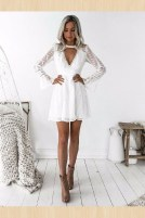 Perfect Winter White Dresses Ideas With Sleeves43