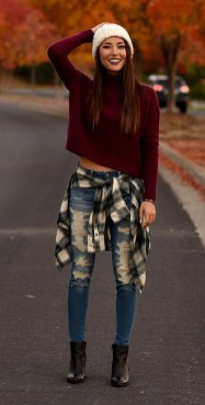 Simple Winter Outfits Ideas For School35