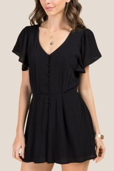 Adorable Black Romper Outfit Ideas05