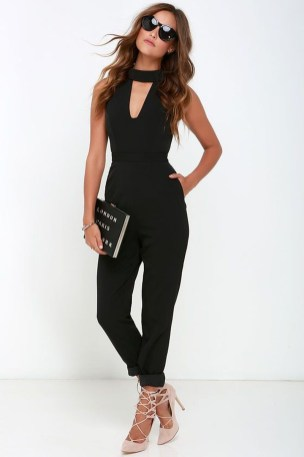 Adorable Black Romper Outfit Ideas09
