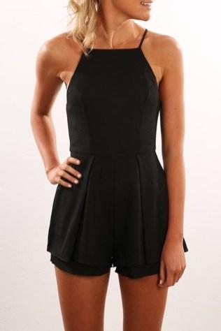 Adorable Black Romper Outfit Ideas12