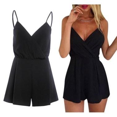 Adorable Black Romper Outfit Ideas46