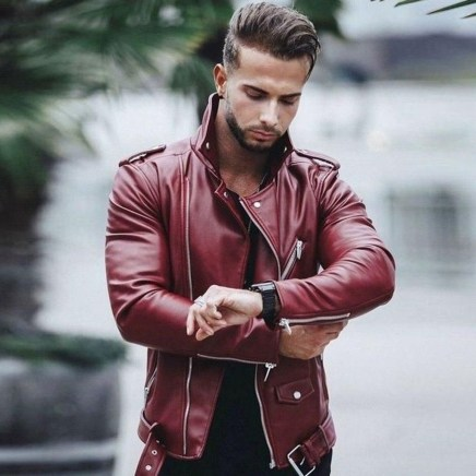 Affordable Leather Jacket Outfit Ideas38