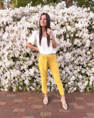 Cute Yellow Outfit Ideas For Spring24