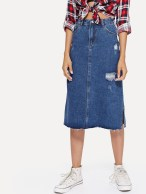 Elegant Denim Skirts Outfits Ideas For Spring23